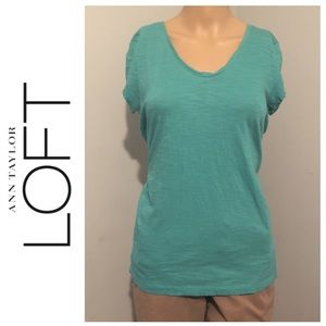 👚 Loft Green Sunwashed T Size Small